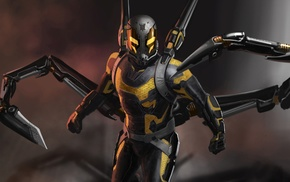 Ant, Man, comics, movies, Yellowjacket, artwork
