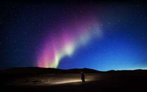 stars, galaxy, aurorae, colorful, nature