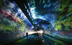 road, Rhone, Alps, Croix Rousse Tunnel, Lyon, Alps