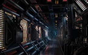 science fiction, Nostromo, artwork, spaceship