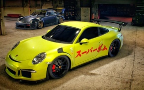 Porsche 911 Carrera S, Porsche 911 GT3 RS, Need for Speed, garages, Porsche, car