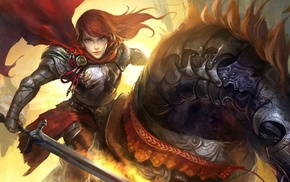 artwork, armor, fantasy art, sword, warrior, Legend of the Cryptids