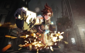 Blizzard Entertainment, Tracer Overwatch, video games, Overwatch, Lena Oxton