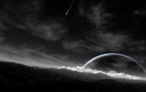 comet, planet, sky, space