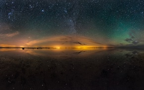 panoramas, nature, salt lakes, starry night, space, landscape