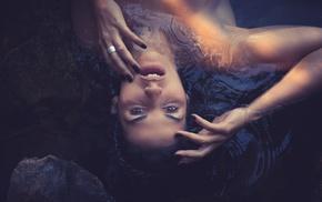 girl, face, portrait, model