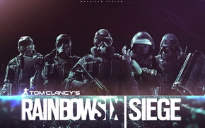 Rainbow Six, army, rainbowsix siege, digital art, dark, video games