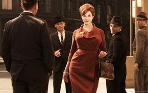 Christina Hendricks, Mad Men, redhead, men, actress, girl