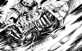 monochrome, sword