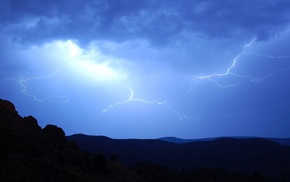 lightning, photography, landscape, storm