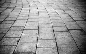 pavements, photography, monochrome, stones