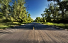 summer, nature, photography, road, trees, landscape