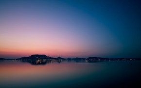 photography, dusk, lake, nature, water, landscape