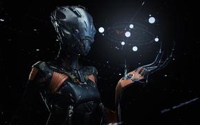 robot, science fiction, artwork, machine