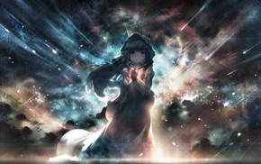 stars, original characters, space, night