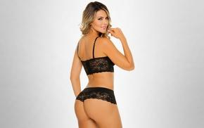 thong, Luisa Raigosa, blonde, model, ass, lingerie
