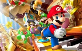 Wario, Super Mario, Princess Peach, Nintendo, bowser, Luigi