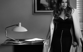 celebrity, monochrome, lamp, Sofia Vergara, curvy, girl