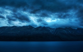 lake, mountains, landscape, photography, clouds, water