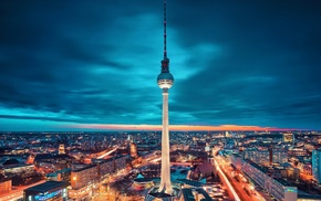photography, urban, building, architecture, lights, Alexanderplatz