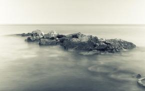 water, rock, sea, photography