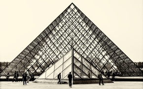Louvre, architecture, photography, pyramid, museum, Paris