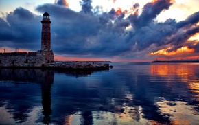 water, sea, harbor, landscape, photography, lighthouse