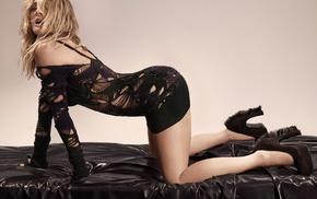 actress, blonde, Drew Barrymore, high heels, looking at viewer, ass