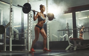 girl, model, sports, fitness model, weightlifting