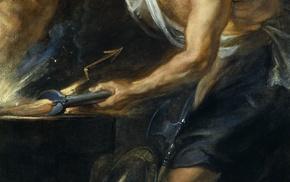 Greek mythology, painting, classic art, Vulcan Roman God