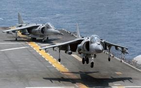 military aircraft, AV, 8B Harrier II, aircraft, aircraft carrier