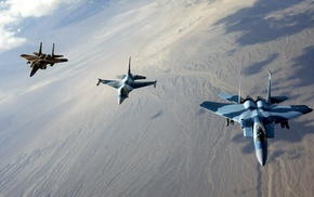 military aircraft, camouflage, McDonnell Douglas F, 15 Eagle, General Dynamics F, 16 Fighting Falcon