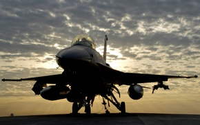 General Dynamics F, 16 Fighting Falcon, clouds, aircraft, military aircraft