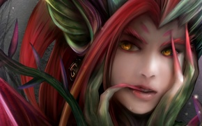 yellow eyes, Zyra, League of Legends