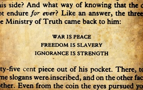 George Orwell, 1984, quote, war