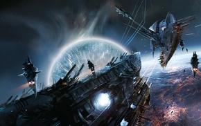 space, war, digital art, aliens