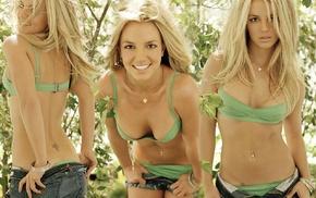 Britney Spears, tattoo, bikini, blonde, swimwear, singer