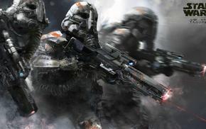 Star Wars, gun, movies, stormtrooper, artwork