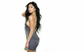 Nicole Scherzinger, singer, black hair, girl, dress