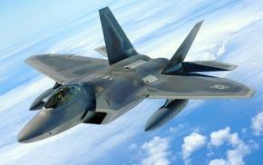 US Air Force, aircraft, F, 22 Raptor, military aircraft