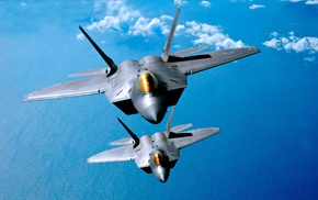 US Air Force, F, 22 Raptor, military aircraft, aircraft, jet fighter