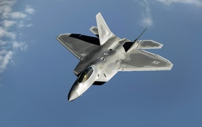 military aircraft, US Air Force, aircraft, jet fighter, F, 22 Raptor