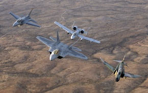 McDonnell Douglas F, 4 Phantom II, F, 22 Raptor, Fairchild A, 10 Thunderbolt II
