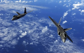 military aircraft, aircraft, jet fighter, F, 22 Raptor, US Air Force
