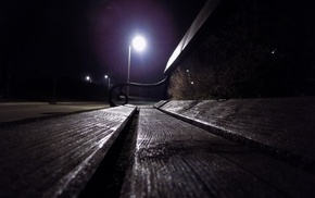 bench, night