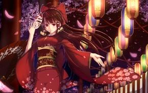 Touhou, anime, kimono, Hakurei Reimu, anime girls