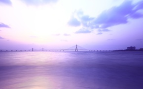 clouds, Mumbai, bridge, sea