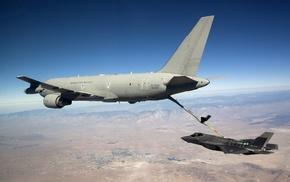 Lockheed Martin F, 35 Lightning II, jet fighter, mid, air refueling, military aircraft
