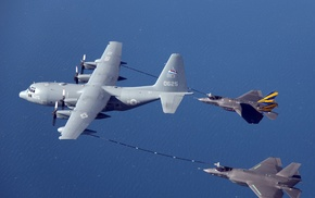 Lockheed Martin F, 35 Lightning II, Lockheed Martin KC, 130, mid, air refueling