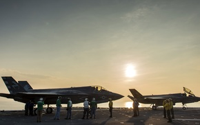 Lockheed Martin F, 35 Lightning II, jet fighter, aircraft, military aircraft, USMC